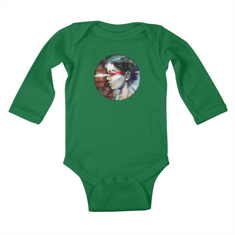 Nova Spike Kids Baby Longsleeve Bodysuit by Vin Zzep's Artist Shop
