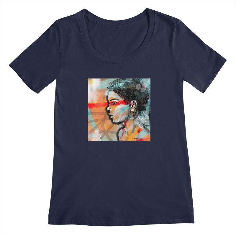 Nova Women's Scoopneck by Vin Zzep's Artist Shop