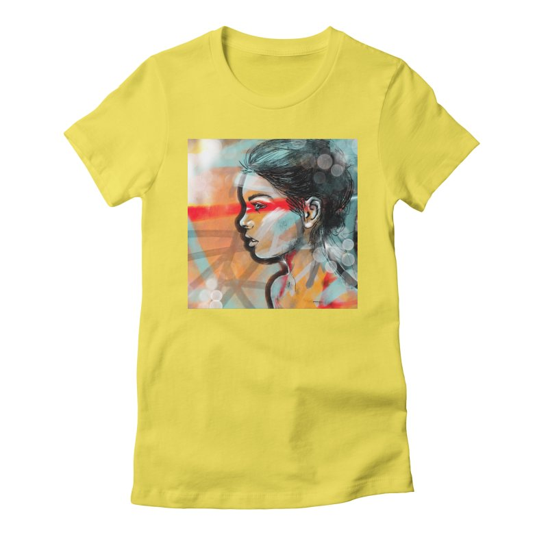 Nova Women's Fitted T-Shirt by Vin Zzep's Artist Shop
