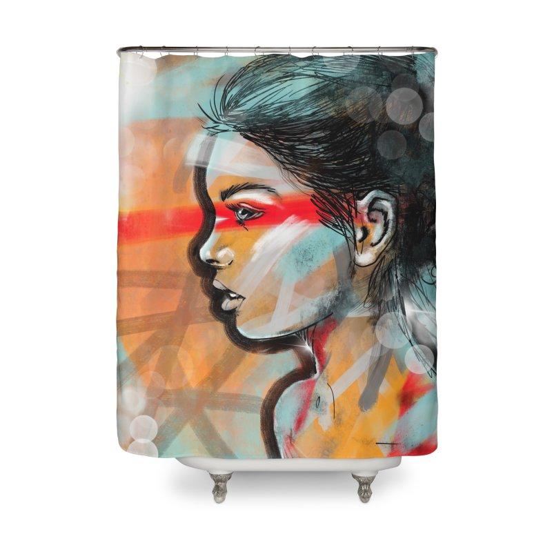 Nova Home Shower Curtain by Vin Zzep's Artist Shop