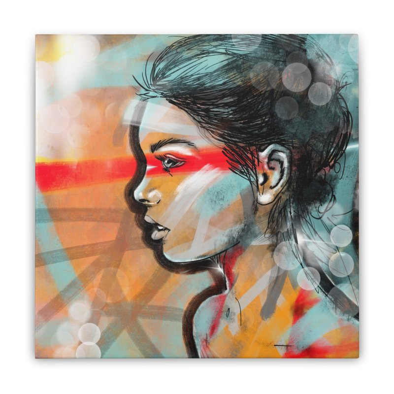 Nova Home Stretched Canvas by Vin Zzep's Artist Shop