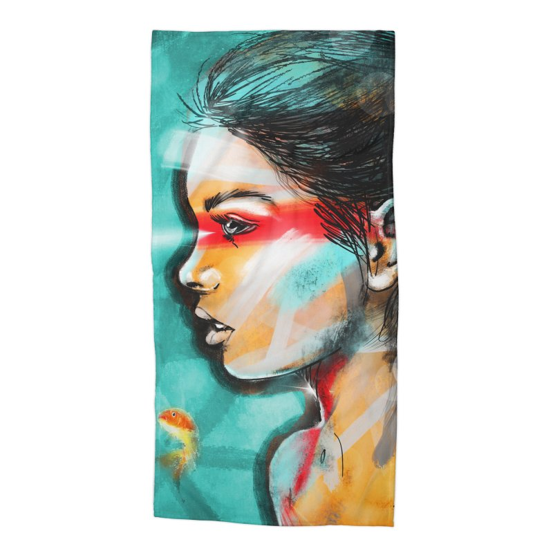 Goldfish Dreaming Accessories Beach Towel by Vin Zzep's Artist Shop