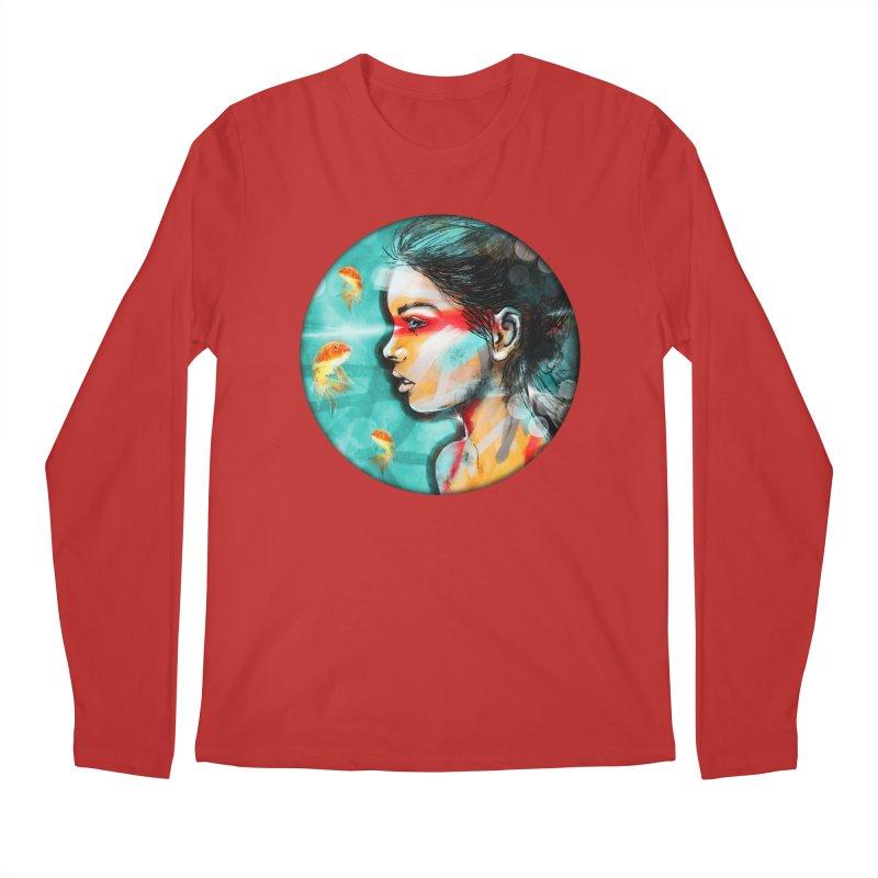 Goldfish Dreaming Men's Longsleeve T-Shirt by Vin Zzep's Artist Shop