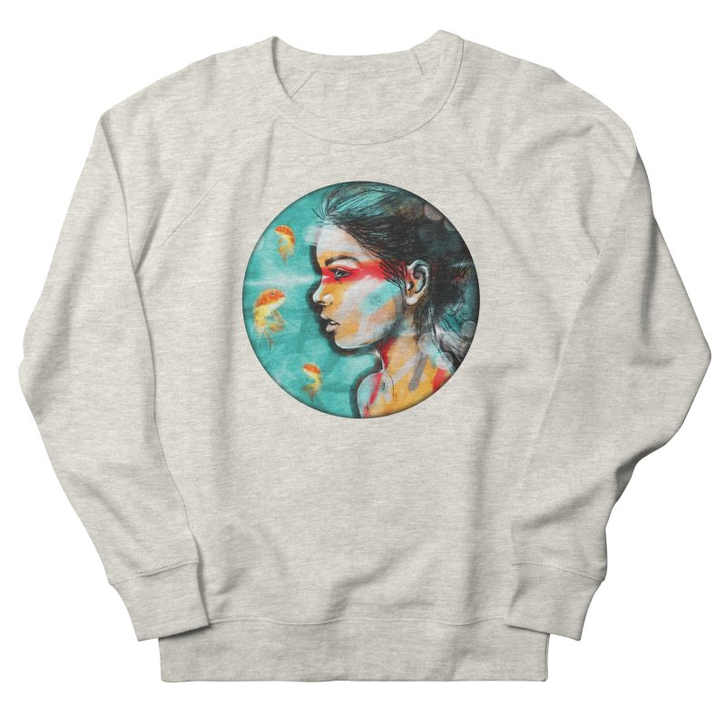 Goldfish Dreaming Women's Sweatshirt by Vin Zzep's Artist Shop