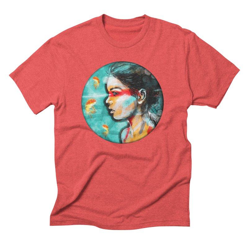 Goldfish Dreaming Men's Triblend T-Shirt by Vin Zzep's Artist Shop