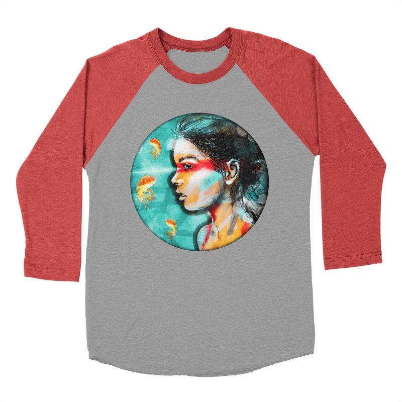 Goldfish Dreaming Women's Baseball Triblend T-Shirt by Vin Zzep's Artist Shop