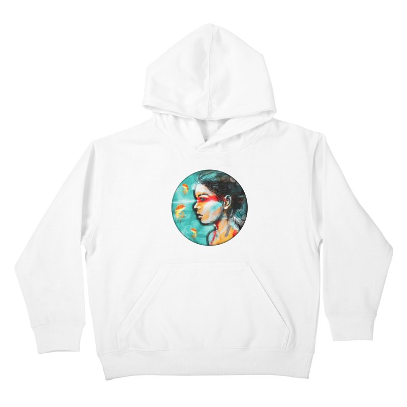 Goldfish Dreaming Kids Pullover Hoody by Vin Zzep's Artist Shop