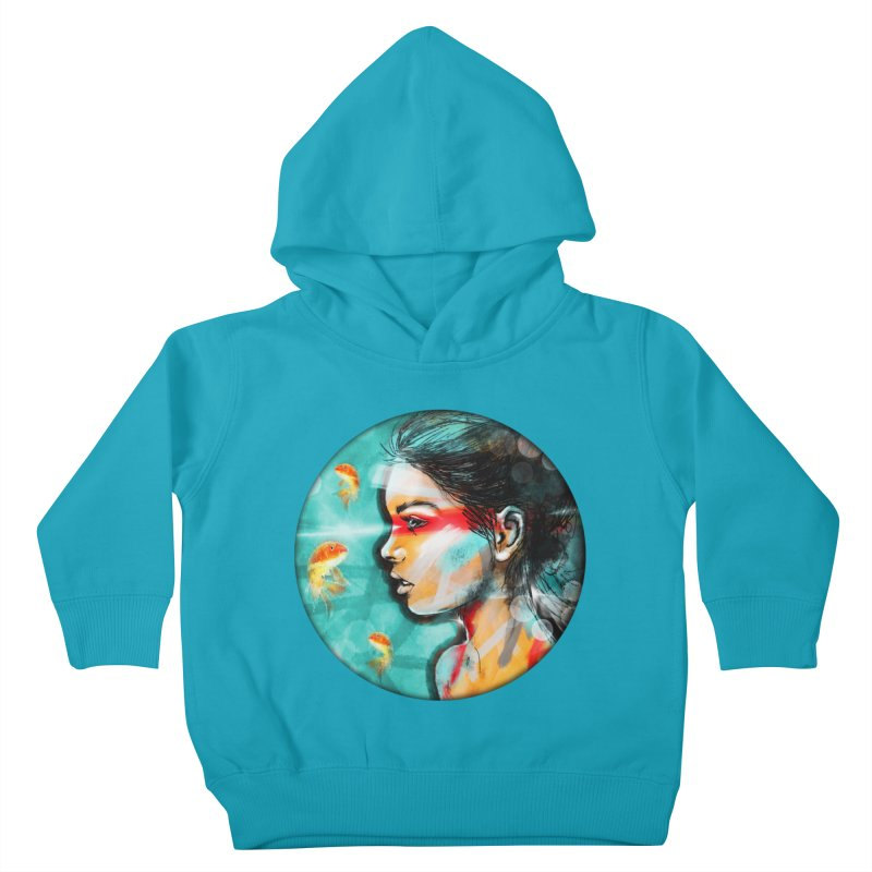 Goldfish Dreaming Kids Toddler Pullover Hoody by Vin Zzep's Artist Shop