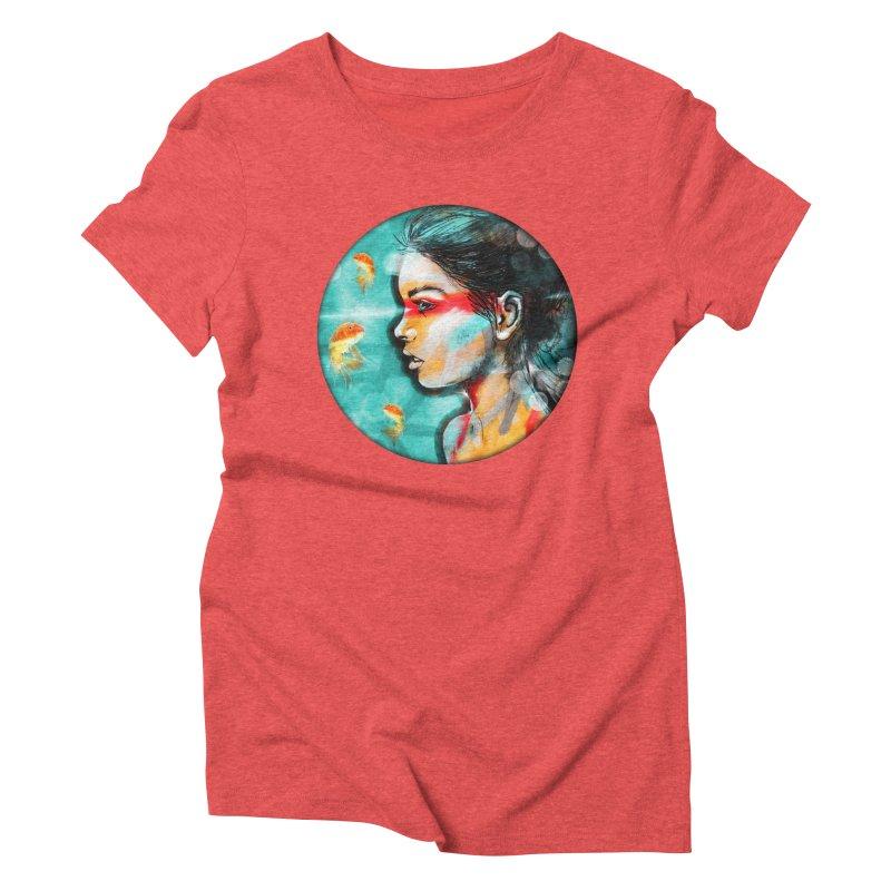 Goldfish Dreaming Women's Triblend T-Shirt by Vin Zzep's Artist Shop