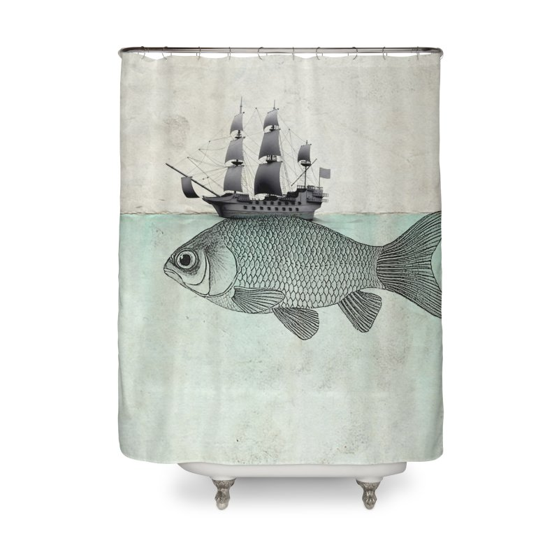 Water line Home Shower Curtain by Vin Zzep's Artist Shop