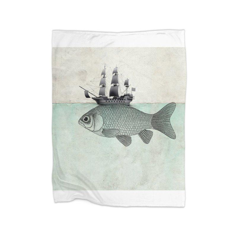 Water line Home Blanket by Vin Zzep's Artist Shop