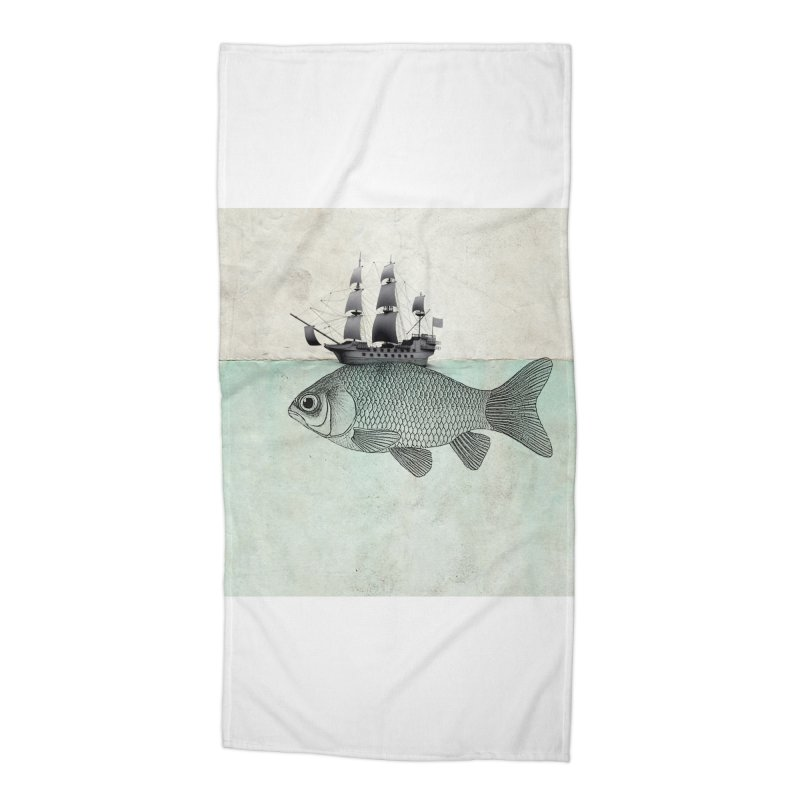 Water line Accessories Beach Towel by Vin Zzep's Artist Shop