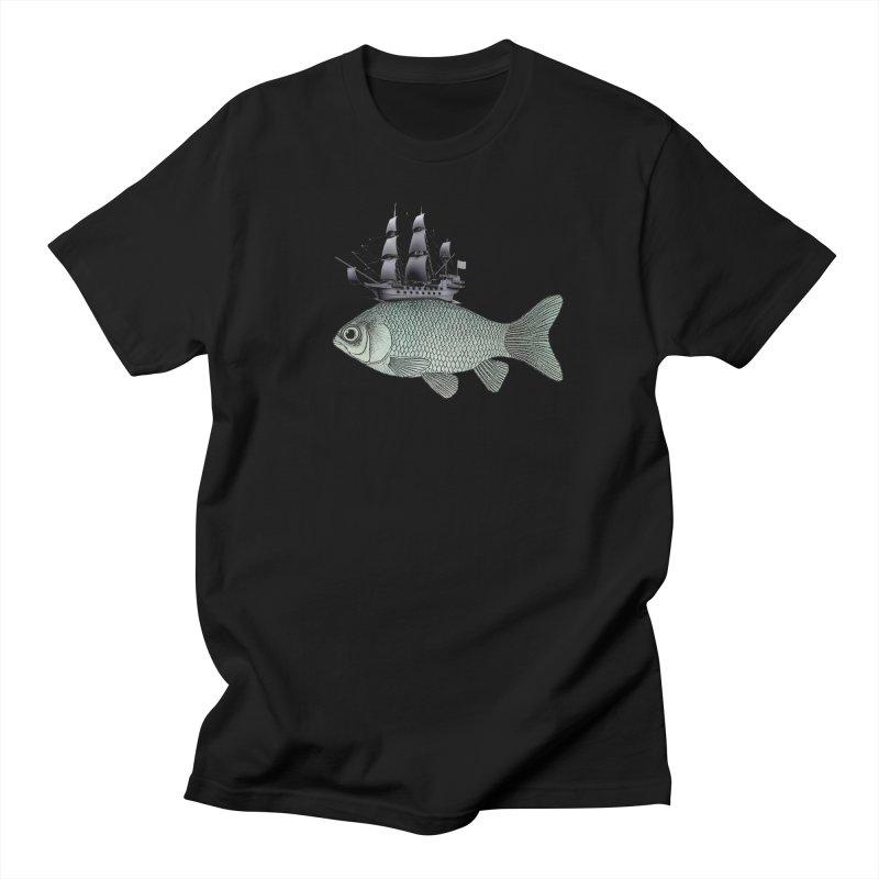 Water line Men's T-Shirt by Vin Zzep's Artist Shop