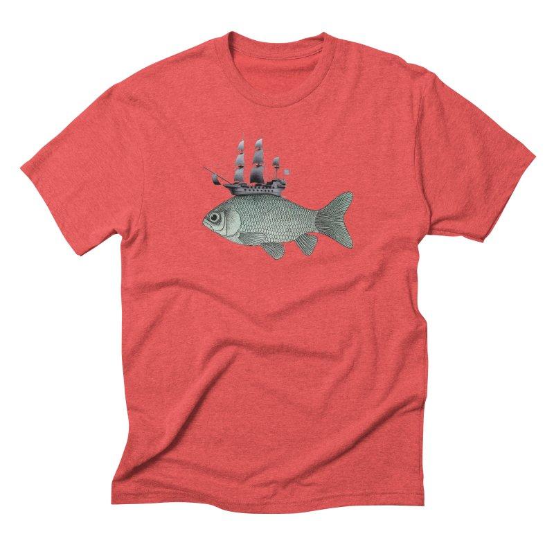 Water line Men's Triblend T-Shirt by Vin Zzep's Artist Shop