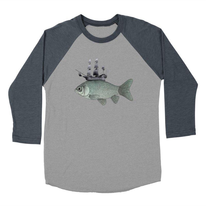 Water line Men's Baseball Triblend T-Shirt by Vin Zzep's Artist Shop