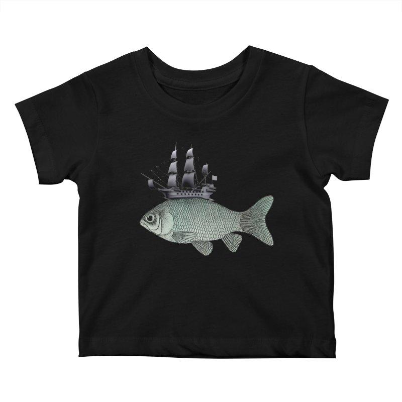 Water line Kids Baby T-Shirt by Vin Zzep's Artist Shop