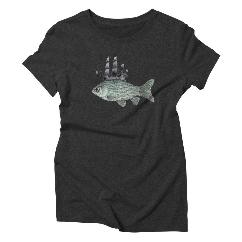Water line Women's Triblend T-Shirt by Vin Zzep's Artist Shop
