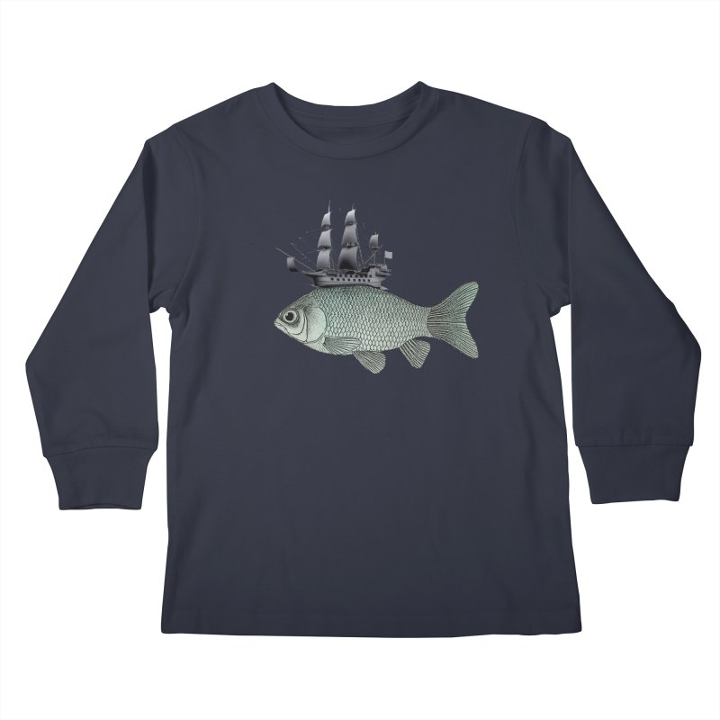 Water line Kids Longsleeve T-Shirt by Vin Zzep's Artist Shop