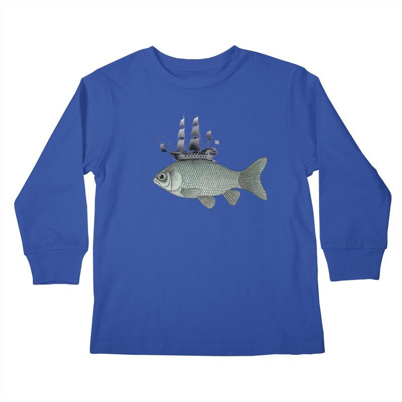 Water line Kids Longsleeve T-Shirt by Vin Zzep's Artist Shop