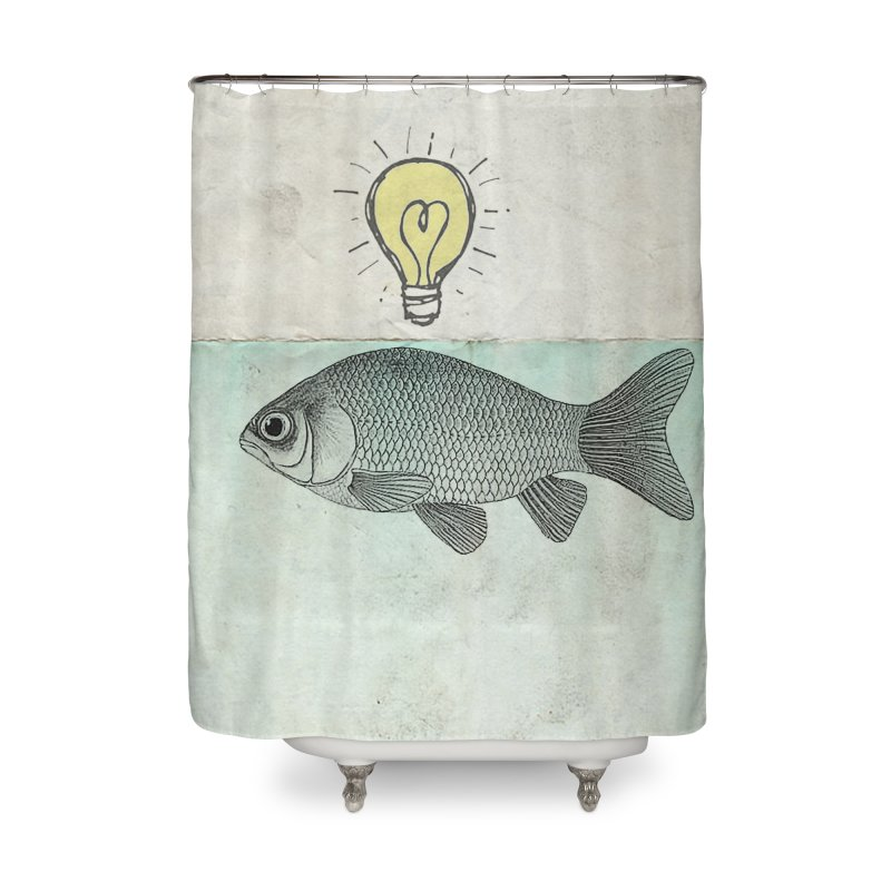 Ideas and Goldfish Home Shower Curtain by Vin Zzep's Artist Shop