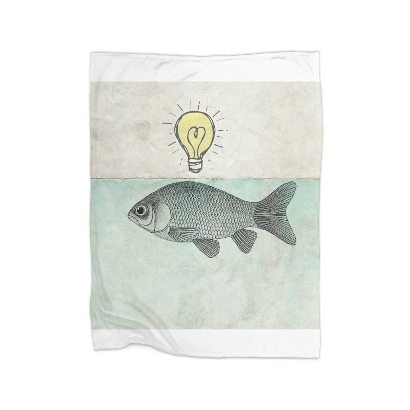 Ideas and Goldfish Home Blanket by Vin Zzep's Artist Shop