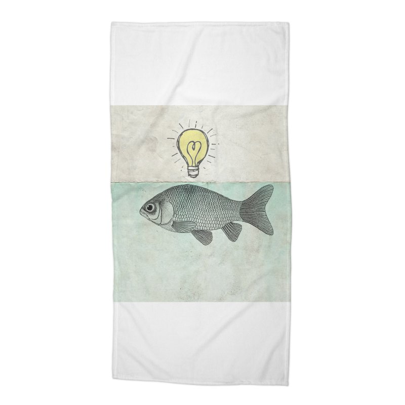 Ideas and Goldfish Accessories Beach Towel by Vin Zzep's Artist Shop