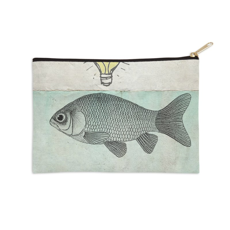 Ideas and Goldfish Accessories Zip Pouch by Vin Zzep's Artist Shop