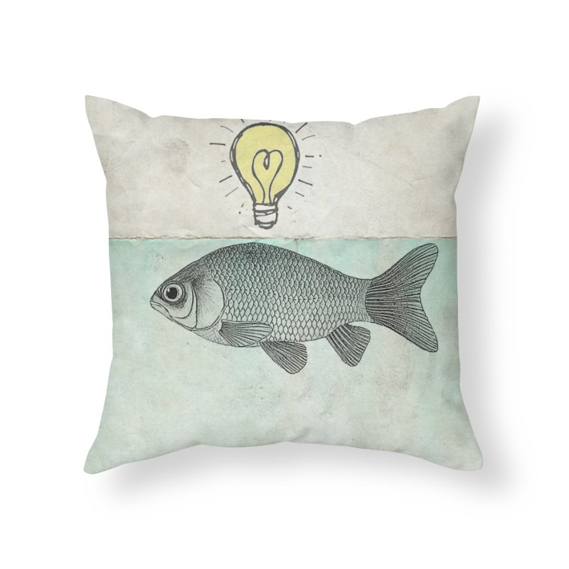 Ideas and Goldfish Home Throw Pillow by Vin Zzep's Artist Shop
