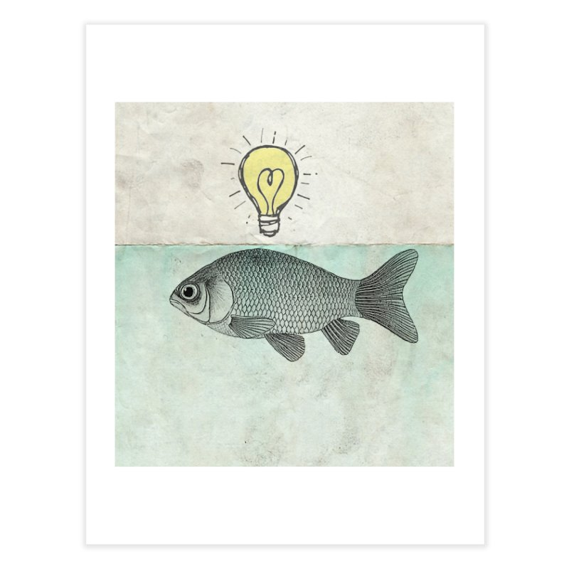 Ideas and Goldfish Home Fine Art Print by Vin Zzep's Artist Shop