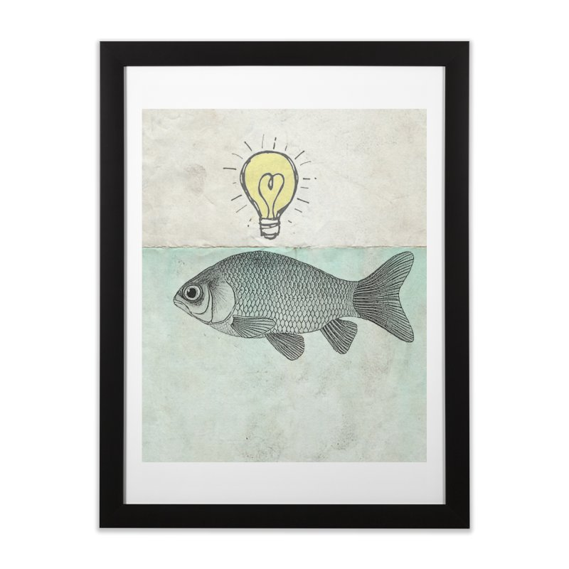 Ideas and Goldfish Home Framed Fine Art Print by Vin Zzep's Artist Shop
