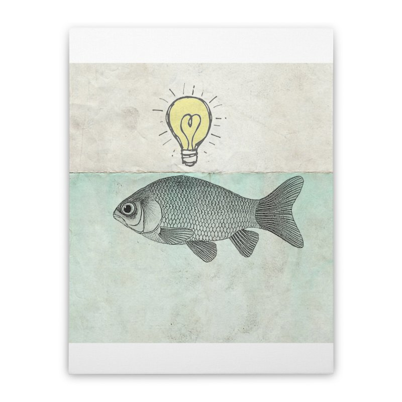 Ideas and Goldfish Home Stretched Canvas by Vin Zzep's Artist Shop