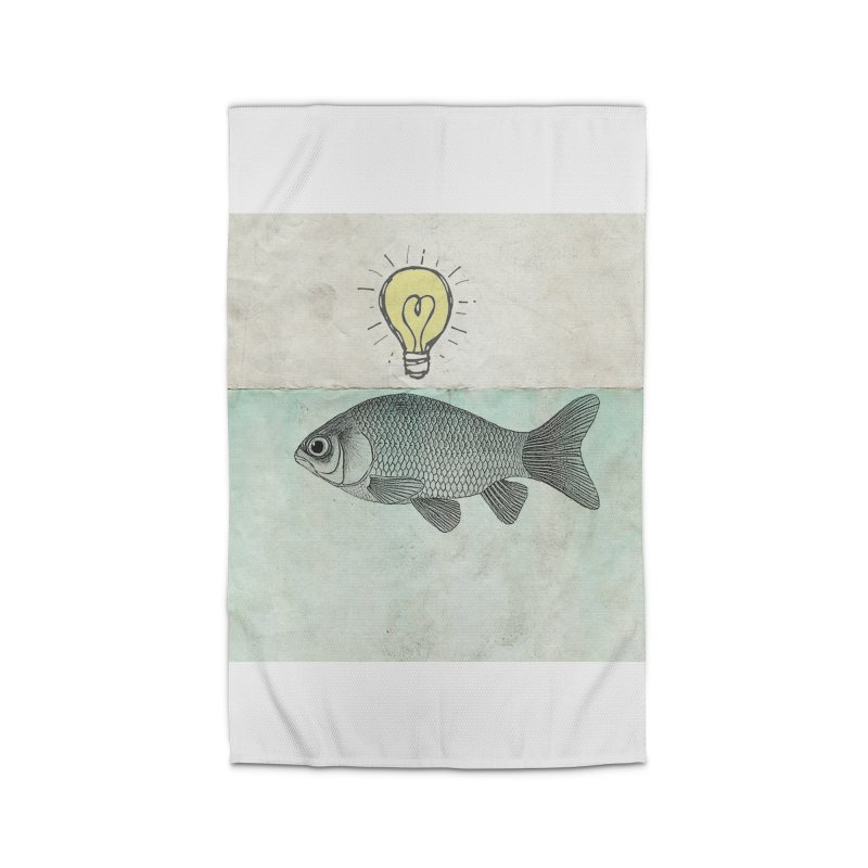 Ideas and Goldfish Home Rug by Vin Zzep's Artist Shop