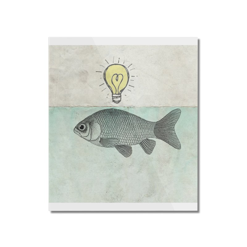 Ideas and Goldfish Home Mounted Acrylic Print by Vin Zzep's Artist Shop