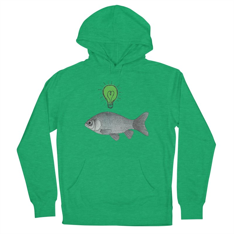 Ideas and Goldfish Women's Pullover Hoody by Vin Zzep's Artist Shop