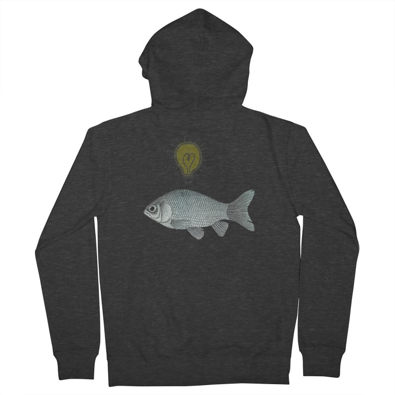 Ideas and Goldfish Women's Zip-Up Hoody by Vin Zzep's Artist Shop