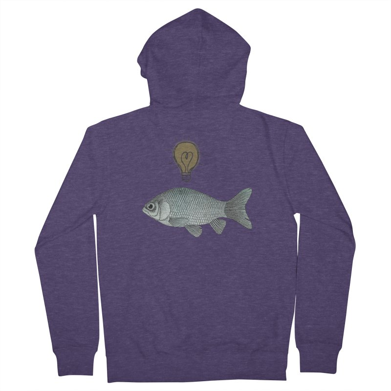 Ideas and Goldfish Men's Zip-Up Hoody by Vin Zzep's Artist Shop
