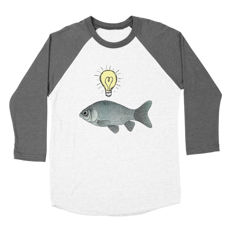 Ideas and Goldfish Women's Baseball Triblend T-Shirt by Vin Zzep's Artist Shop