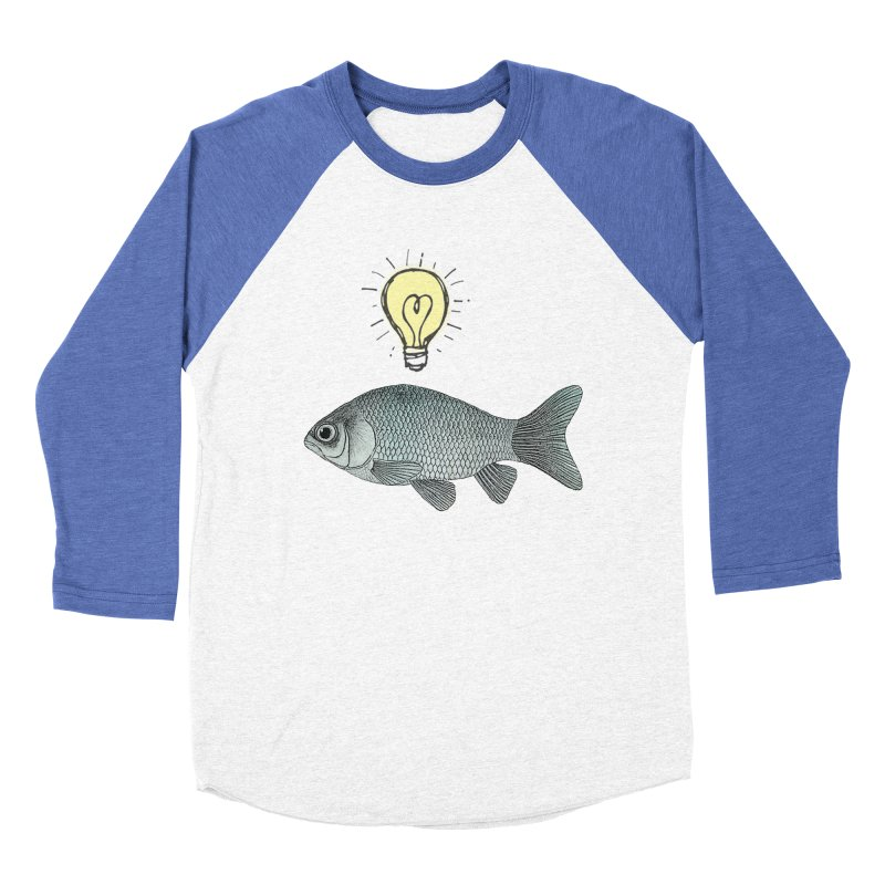 Ideas and Goldfish Men's Baseball Triblend T-Shirt by Vin Zzep's Artist Shop