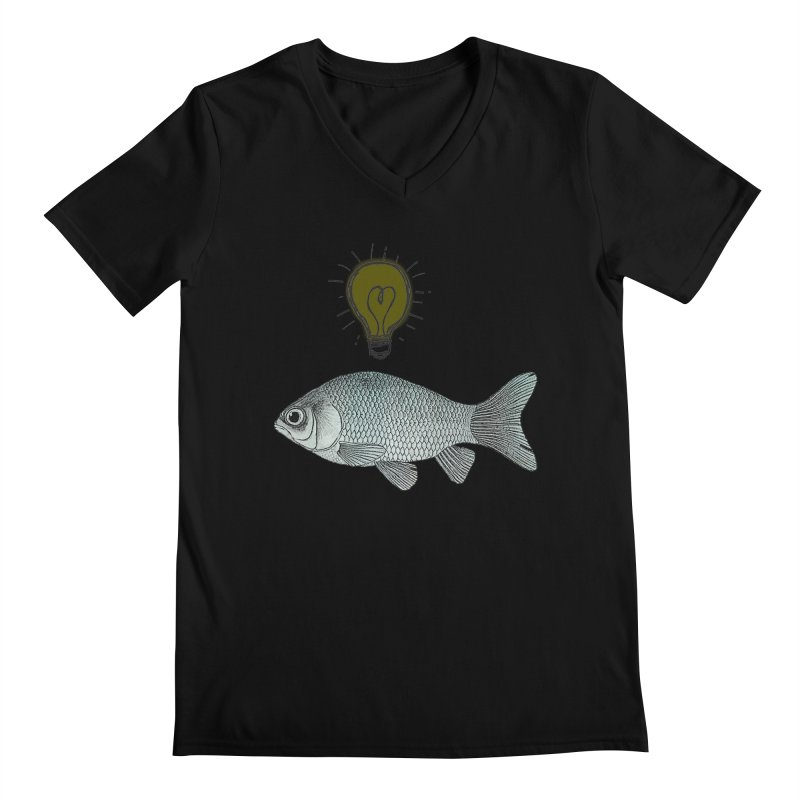 Ideas and Goldfish Men's V-Neck by Vin Zzep's Artist Shop