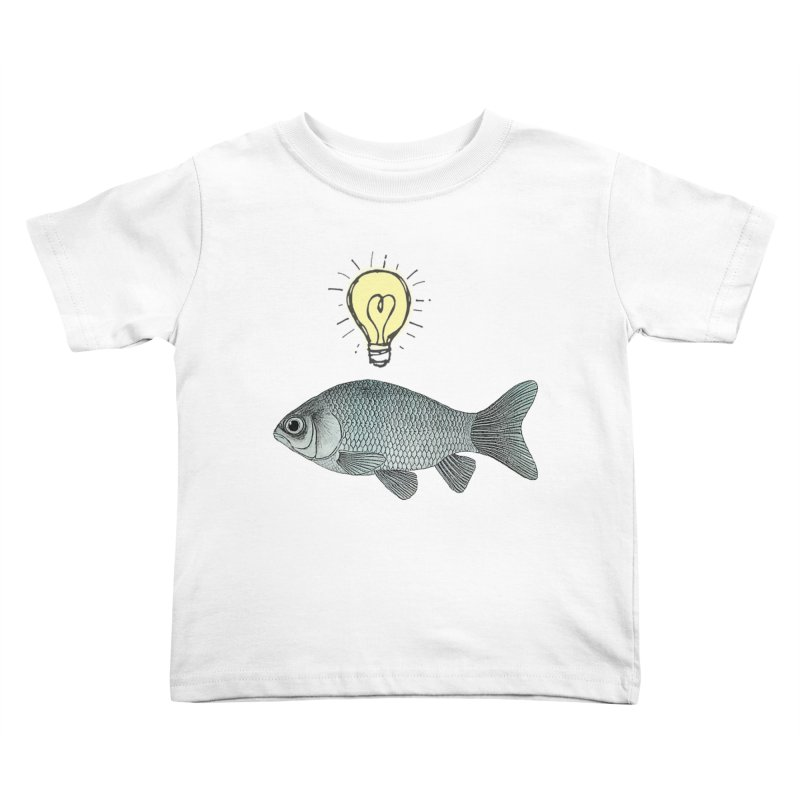 Ideas and Goldfish Kids Toddler T-Shirt by Vin Zzep's Artist Shop