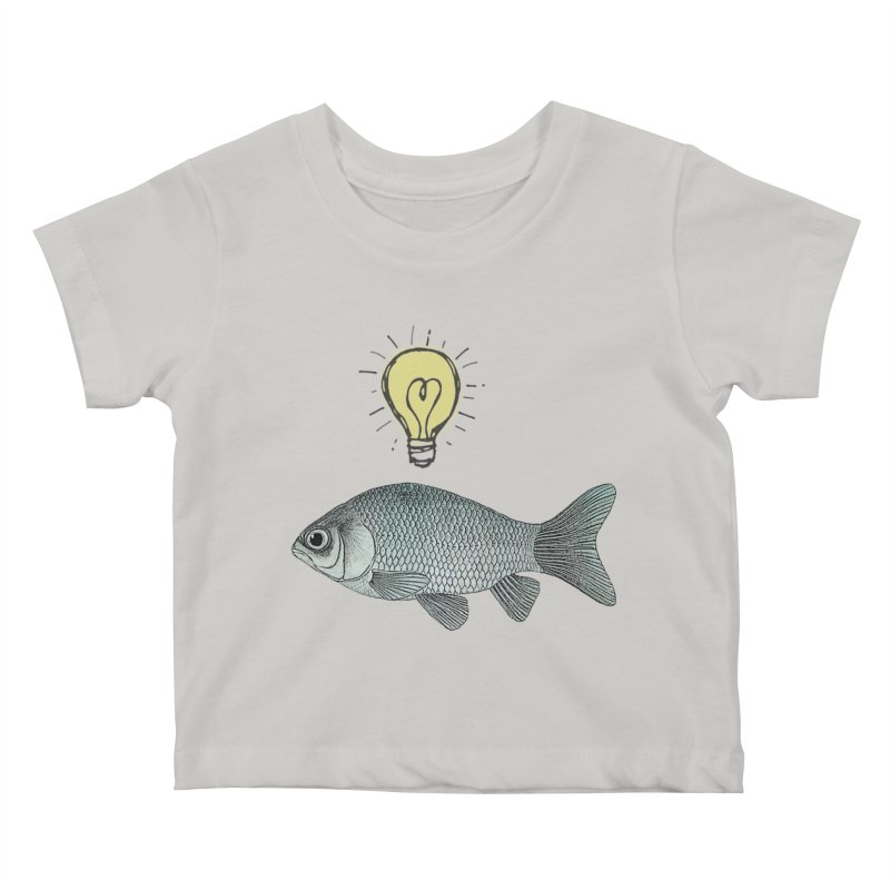Ideas and Goldfish Kids Baby T-Shirt by Vin Zzep's Artist Shop