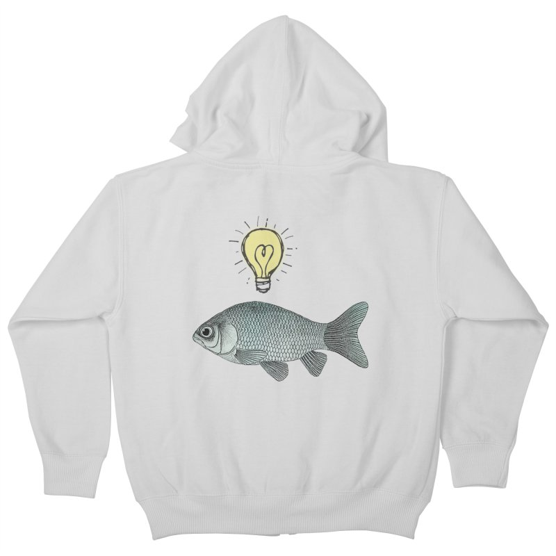 Ideas and Goldfish Kids Zip-Up Hoody by Vin Zzep's Artist Shop