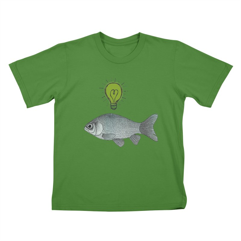 Ideas and Goldfish Kids T-Shirt by Vin Zzep's Artist Shop