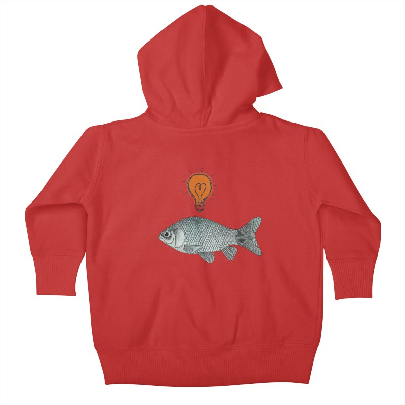 Ideas and Goldfish Kids Baby Zip-Up Hoody by Vin Zzep's Artist Shop