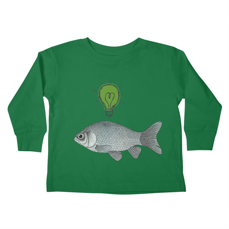 Ideas and Goldfish Kids Toddler Longsleeve T-Shirt by Vin Zzep's Artist Shop