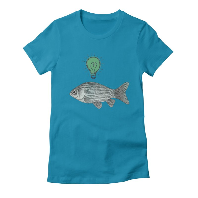 Ideas and Goldfish Women's Fitted T-Shirt by Vin Zzep's Artist Shop