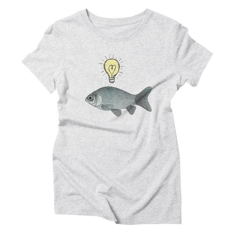 Ideas and Goldfish Women's Triblend T-Shirt by Vin Zzep's Artist Shop