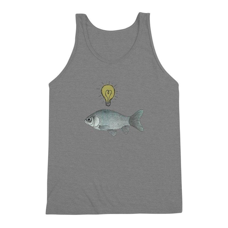 Ideas and Goldfish Men's Triblend Tank by Vin Zzep's Artist Shop