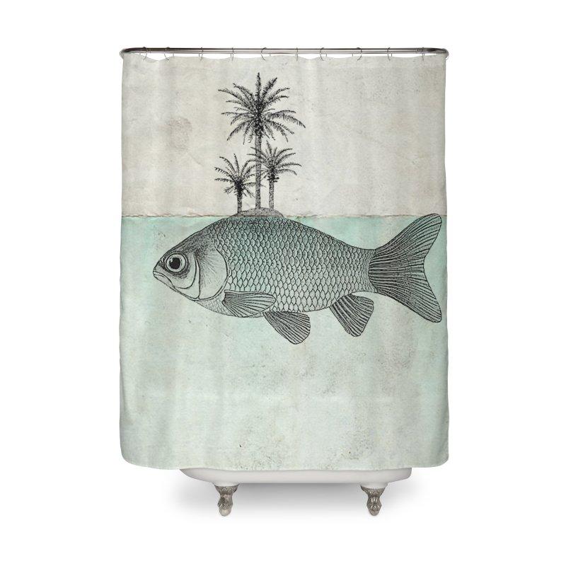 Paradise Goldfish Home Shower Curtain by Vin Zzep's Artist Shop
