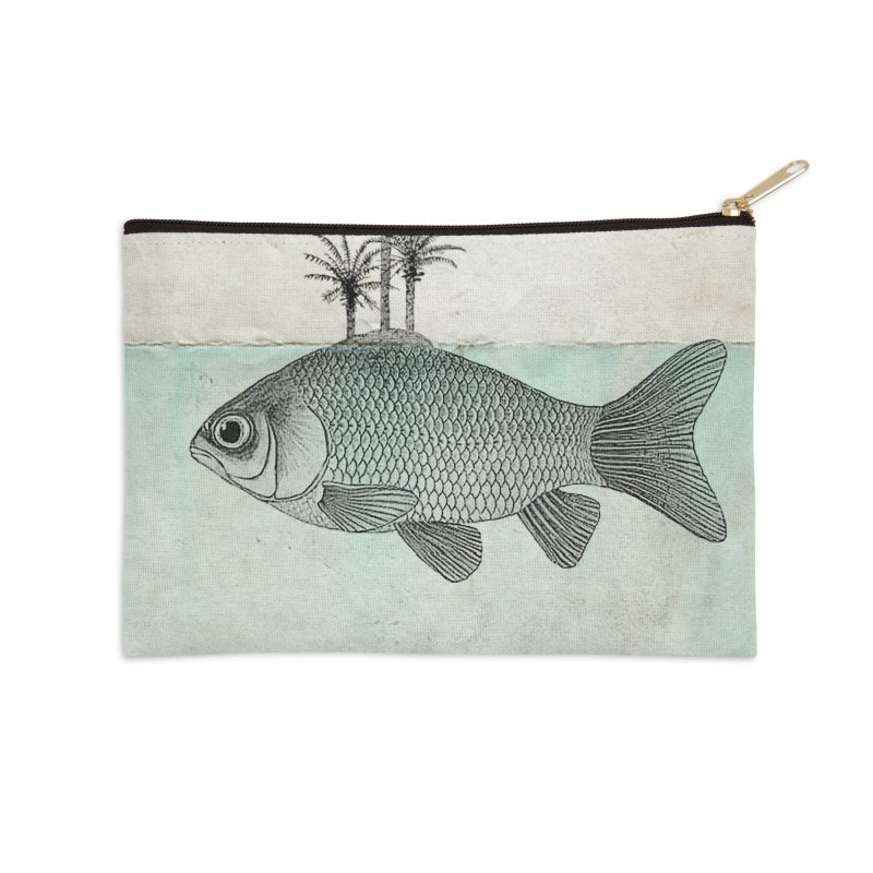 Paradise Goldfish Accessories Zip Pouch by Vin Zzep's Artist Shop
